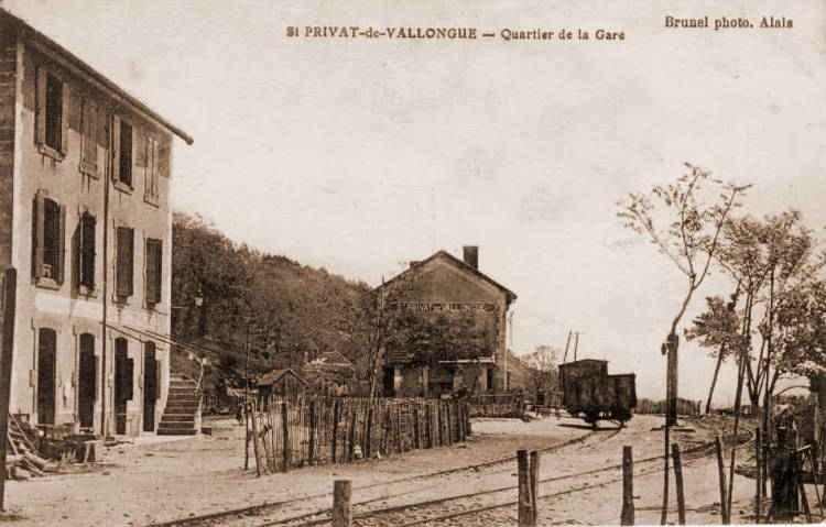 Emprise de la gare de Saint-Privat-de-Vallongue