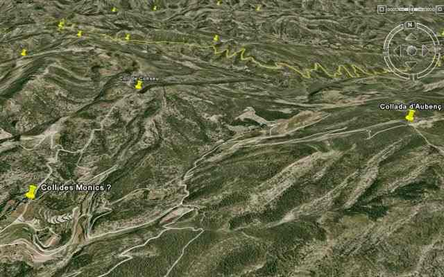 Collada d'Aubenç sur Google Earth
