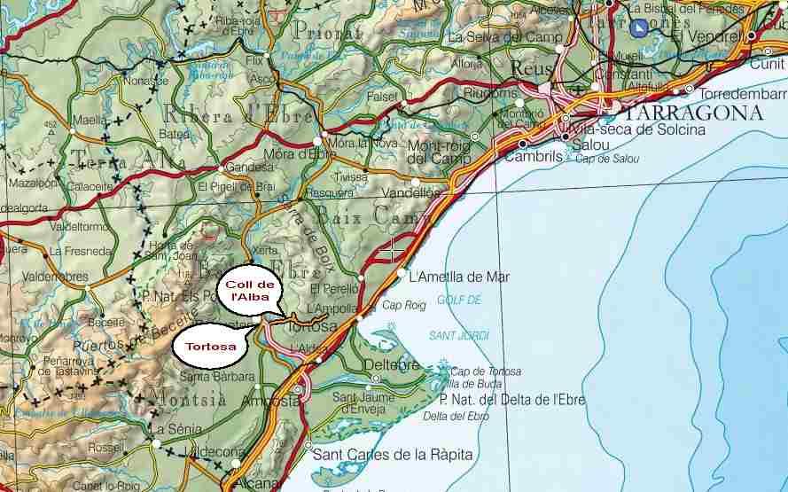 EL Perelló   Tortosa : une boucle et un col en VTT BTT