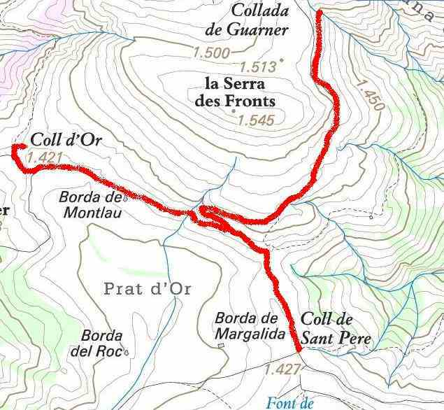 Carte Col d'Or