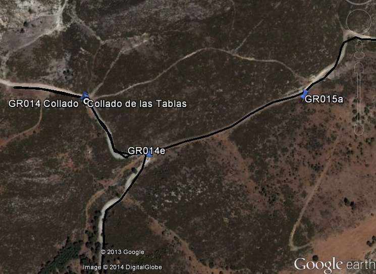 Collado de las Tablas Google earth